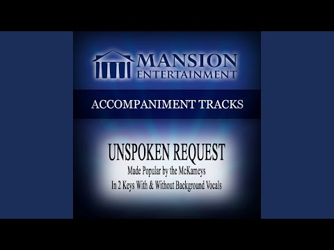 Unspoken Request (Low Key G with Background Vocals)