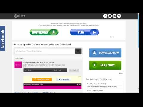 How to download a milions of songs + Lyrics - mp3world.mobi HD