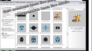 Gambar cover Cara membuat tema line yang anda inginkan menggunakan tema line studio