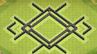 Clash Of Clans Th7 War Base / Town Hall 7 Defense Anti Dragon, Anti Hogs 2015