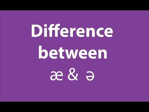 Difference between ə and æ :  British English Accent