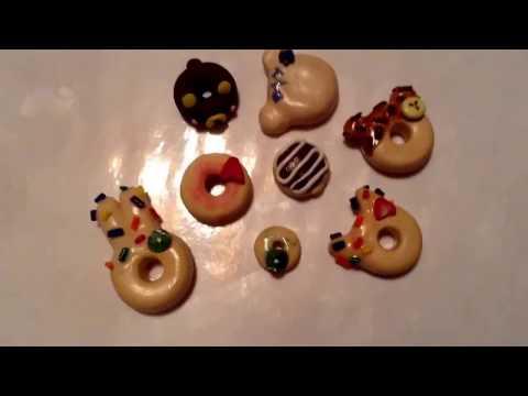 DIY Boston Cream Donut (Polymer Clay)