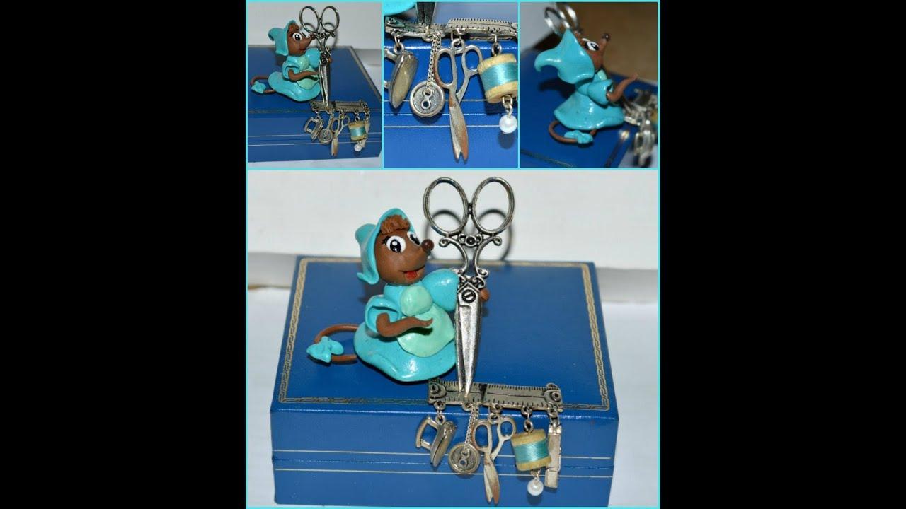 tuto fimo la souris couturi re dans cendrillon the seamstress mouse in cinderella youtube. Black Bedroom Furniture Sets. Home Design Ideas