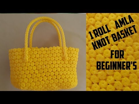 Tamil  1 ROLL AMLA KNOT BASKET MAKING TUTORIAL FOR BEGINNERS