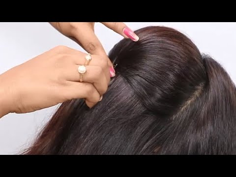 wedding guest Hairstyle for Medium hair|Hairstyles for party|Indian Hairstyles for Saree #hairstyles