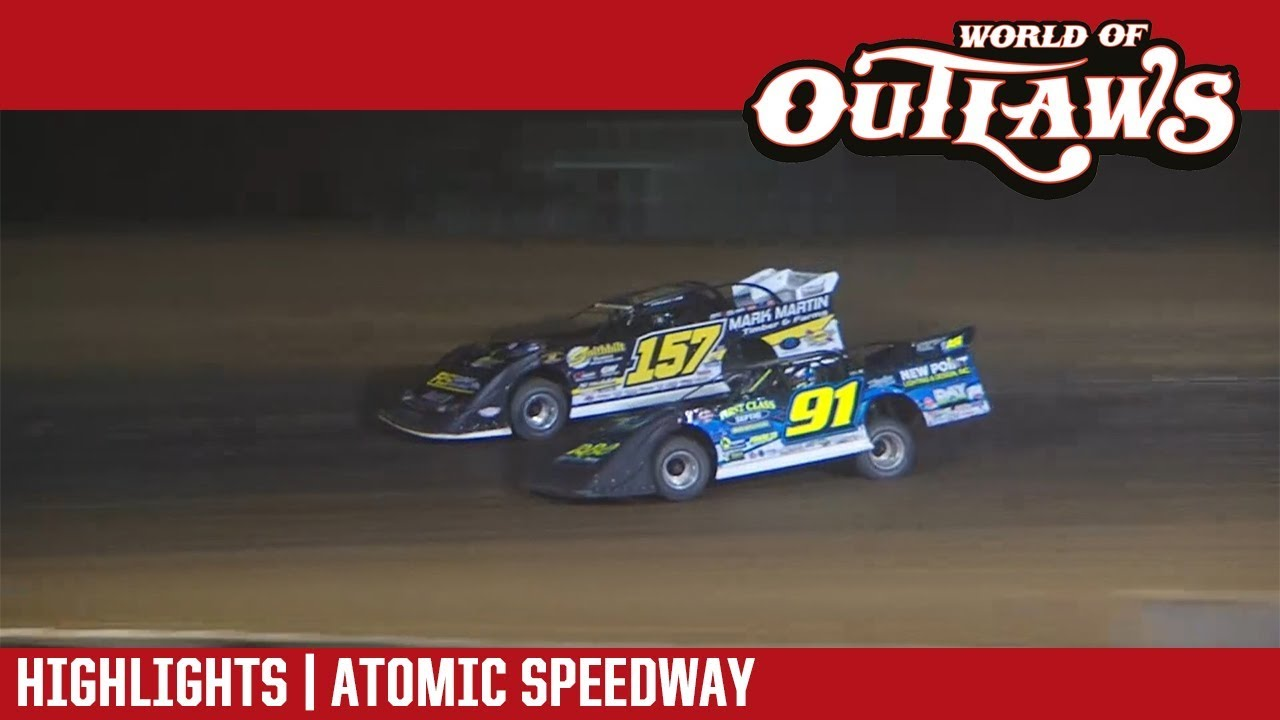 world-of-outlaws-craftsman-late-models-atomic-speedway-september-29-2018-highlights