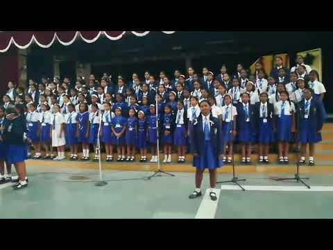Believer from imagine dragons performed at charles school Bangalore