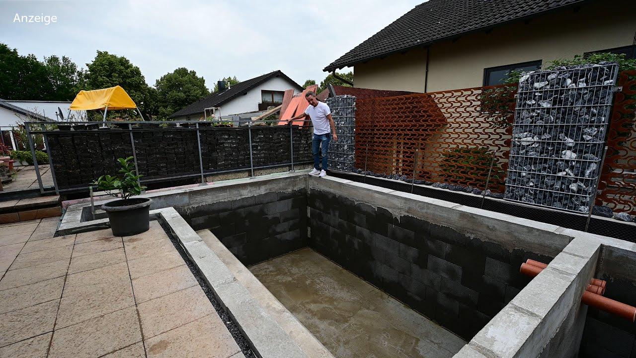 Modern Koi Blog #3947 - Fabians ziemlich perfekt gemauerter 21.200 Liter Teich