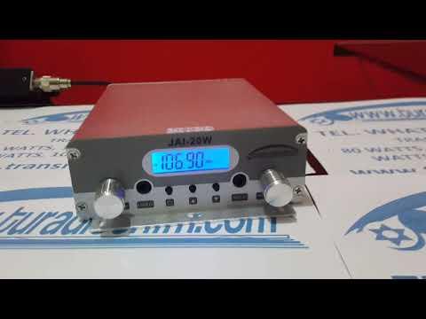 Transmisor FM México de 20 watts Antena y cable www.turadioenfm.com