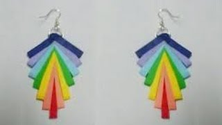 quilling paper earrings new design - quilling paper Earrings Making Tutorial