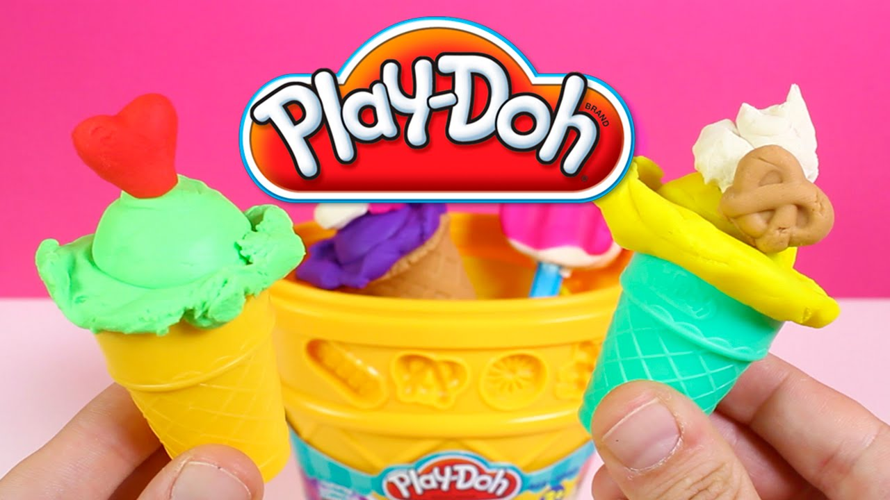 play doh sweet shoppe ice cream cone container craft kit
