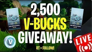 🔴Vbucks Giveaway Live | Playing with subs | Fortnite Battle Royale