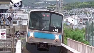 【到着&発車】奈良線 205系1000番台 普通京都行き 六地蔵駅