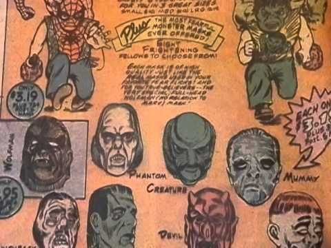 vintage marvel halloween masks comic book ad 1970s