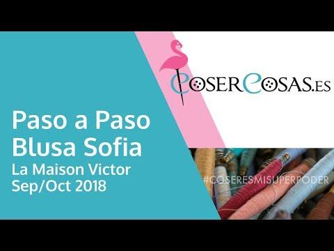 Paso a Paso Blusa Sofia La Maison Victor sept/oct 2018