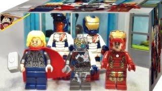 레고 어벤져스 타워 공격 울트론 마크1,철군단 병사,아이언맨 마크 43, 토르 76038 미니피규어 소개 Lego Ultron Mark 1,Iron Man,Thor