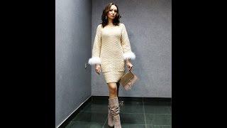 Анонс МК как вязать платье спицами с перьями. (Платный мастер-класс)