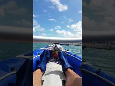 Fishscombe cove to Brixham marina in inflatable kayaks