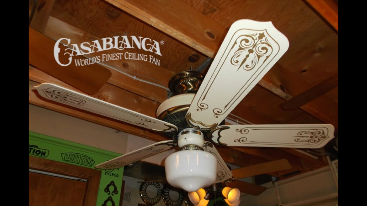 Casablanca Panama 5 Ceiling Fan - YouTube