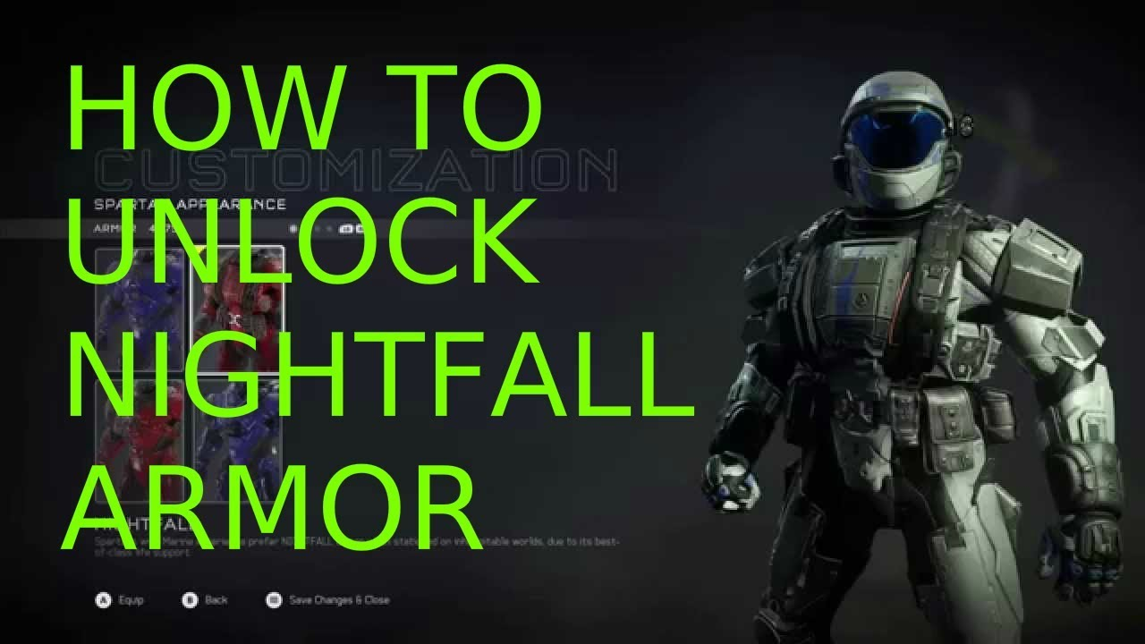 Halo 5 how to unlock nightfall armor