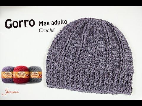 ca08725b3bfff Gorro Touca de Crochê Max Adulto - Professora Simone Eleotério - YouTube