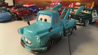 Disney cars Tokyo mater with oil stains diecast review