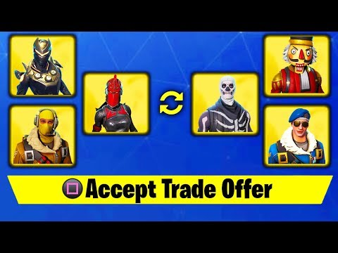 HOW TO TRADE SKINS IN FORTNITE.. (SEASON 5 GIFTING SYSTEM)