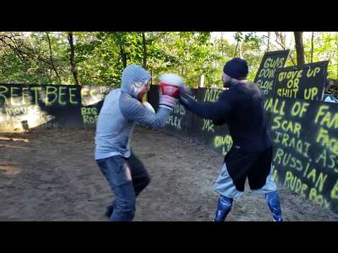 Streetbeefs,  mighty mouse and Italian tyson , back yard boxing.