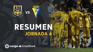 Resumen de AD Alcorcón vs Cádiz CF (3-0)