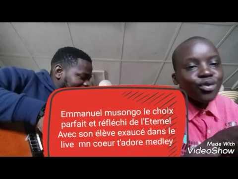 Frère Emmanuel Musongo et son élève Exaucé
