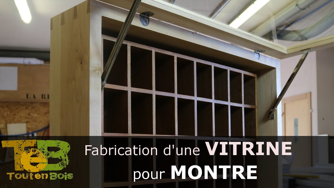 travail du bois fabrication d 39 une vitrine pour montres how to make a wood display for watches. Black Bedroom Furniture Sets. Home Design Ideas