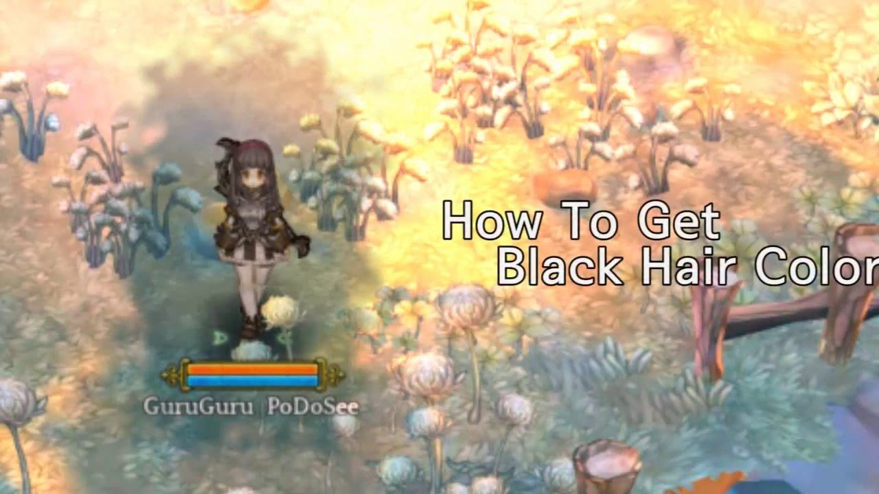 TOS How To Get Black Hair Color YouTube - Hairstyle color tree of savior