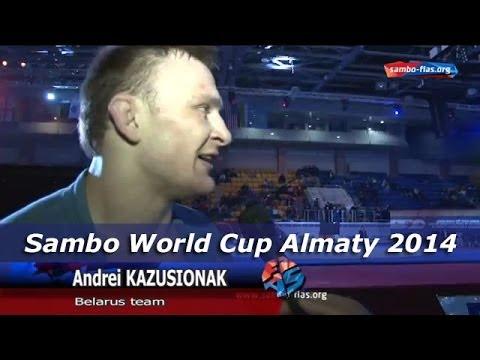 Belarusian Sambist Andrey Kazusenok Sambo World Cup Almaty 2014 Kazakhstan