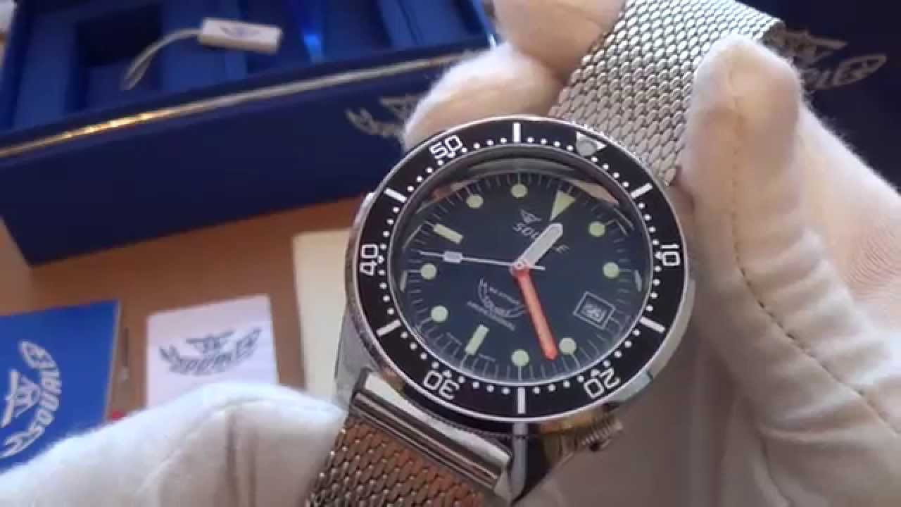 automatic meter long diver watches swiss squalematic watch island atmos youtube premier
