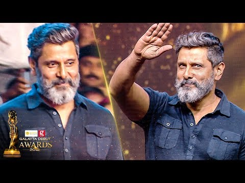 VERITHANAM Chiyaan VIKRAM Entry at Galatta Debut Awards 2018