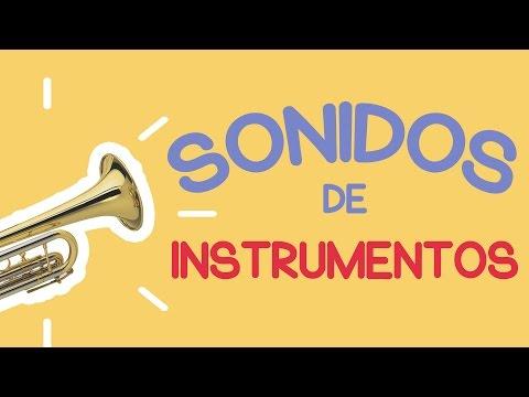 SONIDOS DE LOS INSTRUMENTOS  MUSICALES PARA NIÑOS ^_^ (ENGLISH and SPANISH) #JuegoEducativo