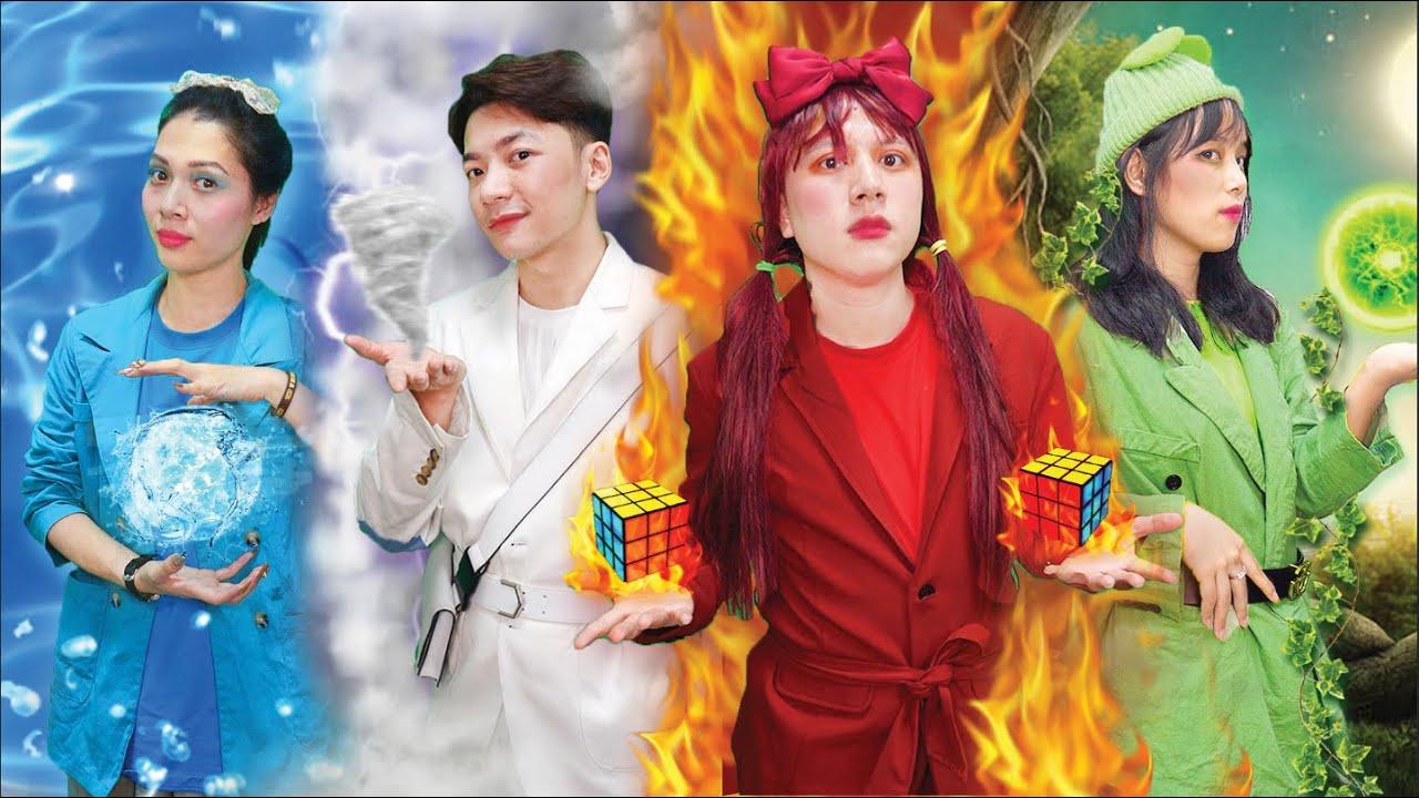 Bộ Tứ Nguyên Tố Và Bí Mật Khối Rubik Kì Diệu !!!