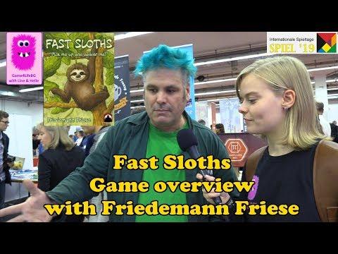 Fast Sloths, Game Overview With Friedemann Friese At Spiel '19 (#spiel19, #FastSloths, Board Game)