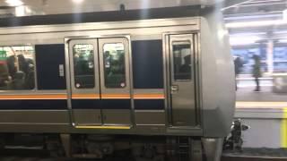 jr西日本 207系0番台 体質改善車 1000番台 z23 s16 新大阪駅発車