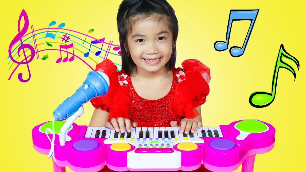 Hana Cherry Pretend Play With Guitar Piano Drum Toy