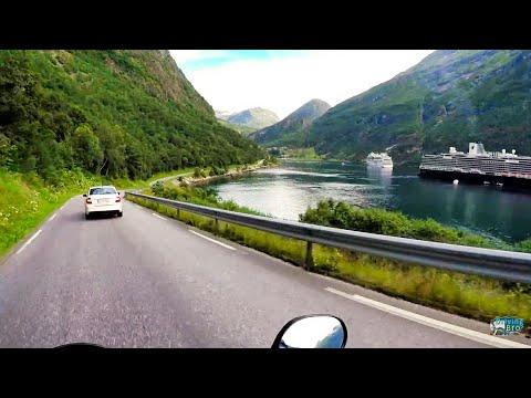 Motorcycle Trip through Beautiful Geiranger, Norway!