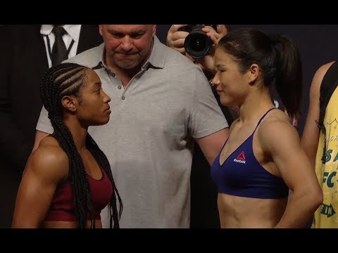 Danielle Taylor vs. Weili Zhang - Weigh-in Face-Off - (UFC 227: Dillashaw vs. Garbrandt 2) - /r/WMMA