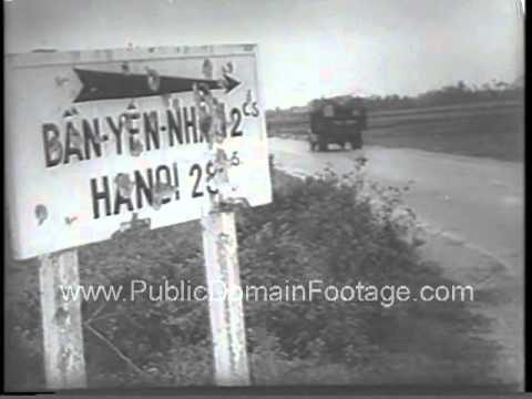 Indo China War supply route attacks  - 1954 newsreel and archival stock footage