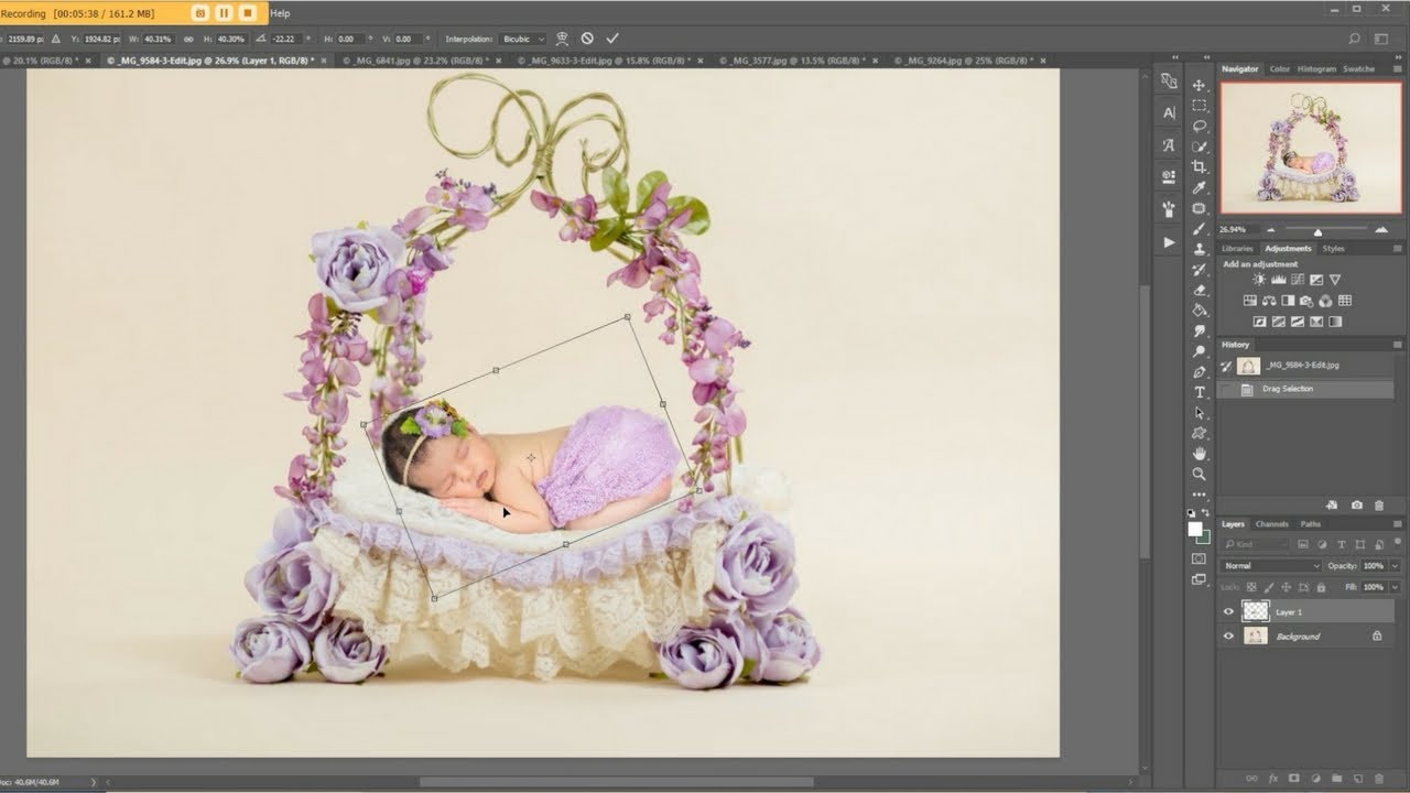 How to use digital backdrops easy tutorial using digital backdrop newborn composite