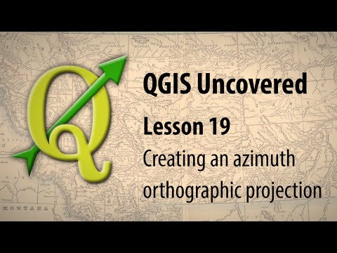 QGIS lesson 19 – Creating a globe projection