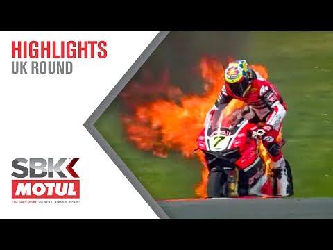 Chaz Davies bike on fire!