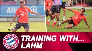 Training with Philipp Lahm | FC Bayern