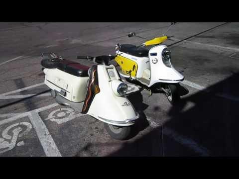 MVI 0046 Heinkel Tourist and Fuji Rabbit 150 Touring