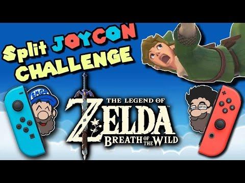 SPLIT JOYCON CHALLENGE! || Zelda Breath of the Wild || HOBO BROS