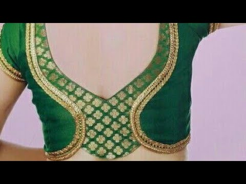 9f13b35bebfd2a Back neck designs for blouse drafting cutting and stitching - YouTube
